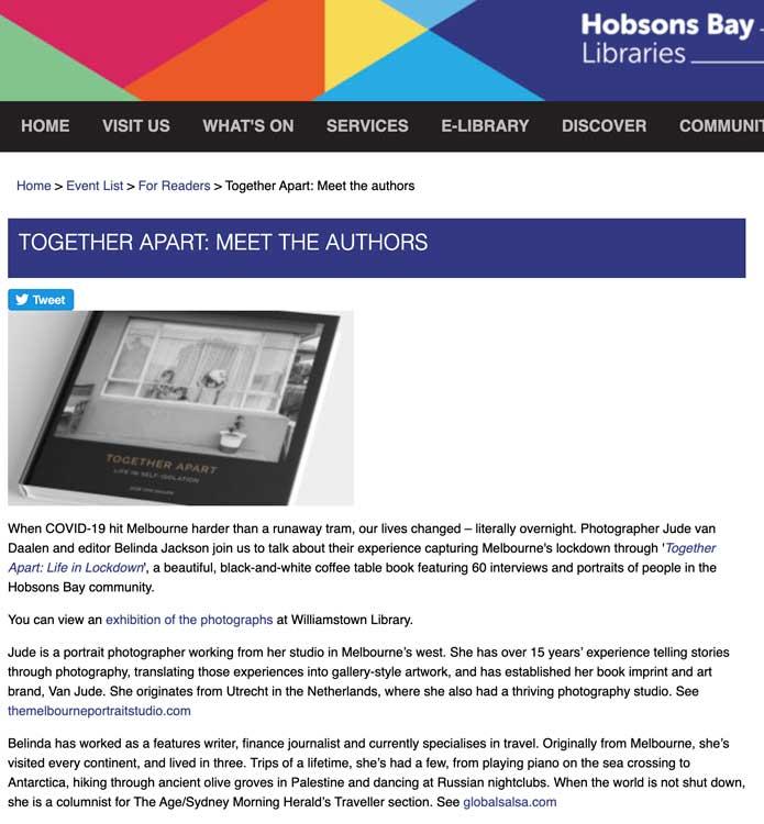 Author Talk Williamstown Library